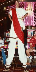 Caesar Las Vegas Stilt Walker